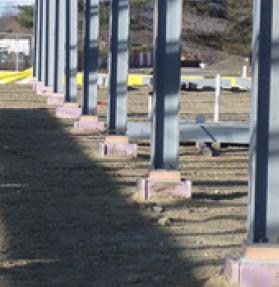 Armatherm column base insulation blocks